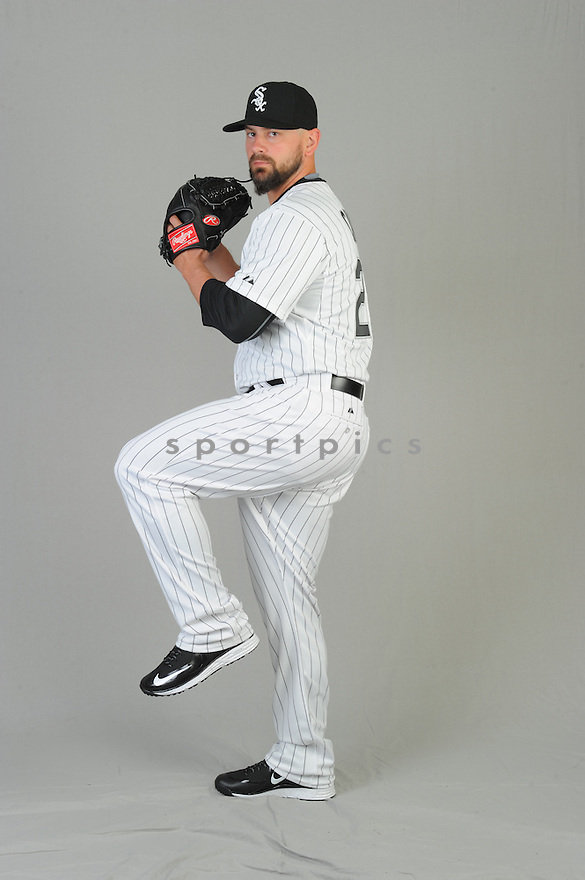 Chicago White Sox Jesse Crain (28) during photo day on February 28, 2015 in Glendale, AZ.