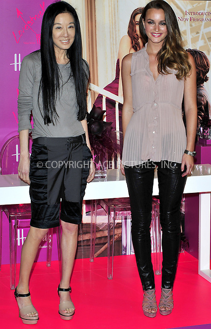 WWW.ACEPIXS.COM . . . . .  ..... . . . . US SALES ONLY . . . . .....June 9 2011, London....Actress Leighton Meester and designer Vera Wang at the launch of the new fragrance 'Vera Wang Lovestruck' by Vera Wang at Harrods on June 9 2011 in London....Please byline: FAMOUS-ACE PICTURES... . . . .  ....Ace Pictures, Inc:  ..Tel: (212) 243-8787..e-mail: info@acepixs.com..web: http://www.acepixs.com
