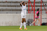 Chicago, IL - Saturday July 30, 2016: Tiffany McCarty during a regular season National Women's Soccer League (NWSL) match between the Chicago Red Stars and FC Kansas City at Toyota Park.