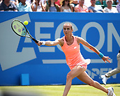 June 17th 2017, Nottingham, England;WTA Aegon Nottingham Open Tennis Tournament day 6;  Magdalena Rybarikova of The Slovak Republic reaches for a forehand