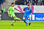 01.12.2018, wirsol Rhein-Neckar-Arena, Sinsheim, GER, 1 FBL, TSG 1899 Hoffenheim vs FC Schalke 04, <br /> <br /> DFL REGULATIONS PROHIBIT ANY USE OF PHOTOGRAPHS AS IMAGE SEQUENCES AND/OR QUASI-VIDEO.<br /> <br /> im Bild: Alessandro Sch&ouml;pf / Schoepf (FC Schalke 04 #28) gegen Ermin Bicakcic (TSG Hoffenheim #4)<br /> <br /> Foto &copy; nordphoto / Fabisch