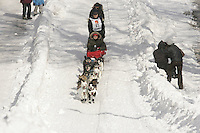 Gene Smith in Anchorage on Saturday March 1st during the ceremonial start day of the 2008 Iidtarod Sled Dog Race.