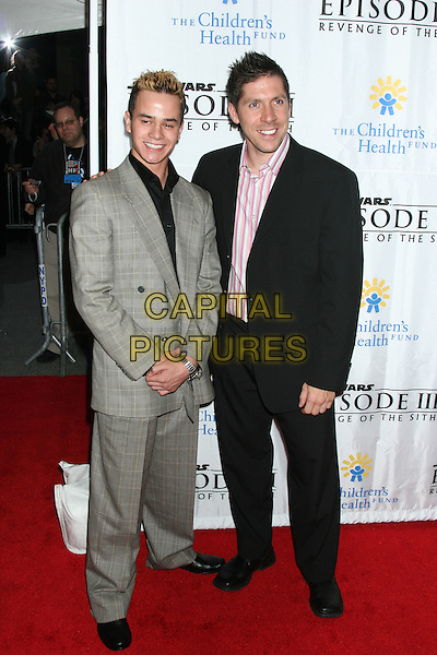 "DANIEL LOGAN & RAY PARK.""Star Wars: Episode III: Revenge Of The Sith"" New York City Benefit Premiere - Inside Arrivals .Ziegfeld Theater, New York City, USA, May 12th 2005..full length.Ref: IW.www.capitalpictures.com.sales@capitalpictures.com.©Ian Wilson/Capital Pictures."