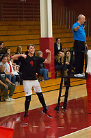 STANFORD, CA - January 2, 2018: Eric Beatty at Burnham Pavilion. The Stanford Cardinal defeated the Calgary Dinos 3-1.