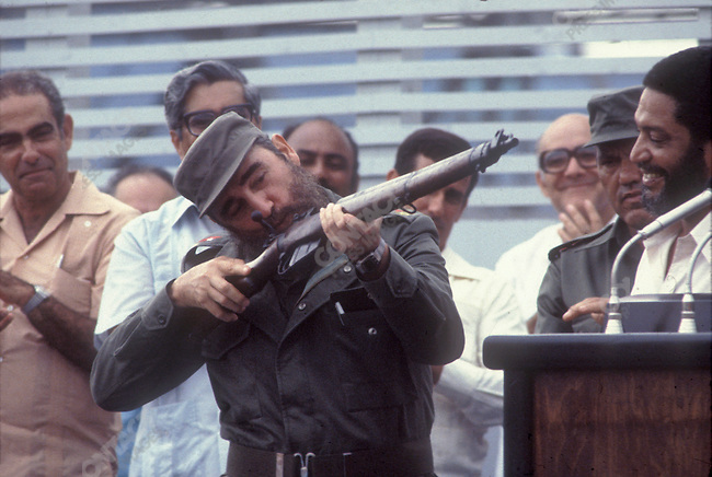 Fidel Castro, President of Cuba, August 1983<br />