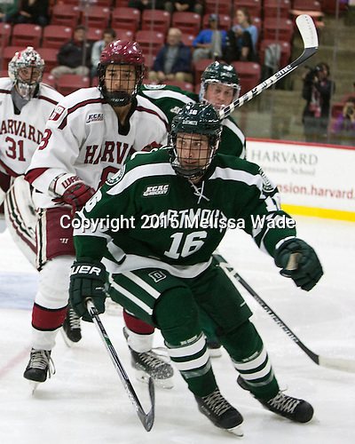 Victor Newell (Harvard - 8), Kevan Kilistoff (Dartmouth - 16) - The Harvard University Crimson defeated the Dartmouth College Big Green 5-2 to sweep their weekend series on Sunday, November 1, 2015, at Bright-Landry Hockey Center in Boston, Massachusetts. -