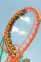 Thrill seekers gravitate to Carowinds Theme Park's 2009 debuted roller coaster, the Carolina Cobra. The 125-foot tall twisting serpent ride zooms riders into three inversions, including a cobra roll and a 360-degree loop - both forward and backward. The boomerang roller coaster is built on a steel tubular track. The thrill ride is part of Carowinds, a 112-acre theme park is a combination amusement park and water park located on the state lines between North Carolina and South Carolina. The theme park is a popular summer Carolina attraction, one of three major theme parks in the Carolinas. Charlotte's Carowinds is owned by Cedar Fair Entertainment Company.