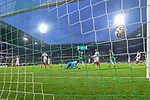 10.02.2019, Weser Stadion, Bremen, GER, 1.FBL, Werder Bremen vs FC Augsburg, <br /> <br /> DFL REGULATIONS PROHIBIT ANY USE OF PHOTOGRAPHS AS IMAGE SEQUENCES AND/OR QUASI-VIDEO.<br /> <br />  im Bild<br /> <br /> 4:0 durch Kevin Möhwald / Moehwald (Werder Bremen #06) verdeckt gegen Gregor Kobel (FC Augsburg #40)<br />  Aufgenommen mit der Hintertor Remote Kamera<br /> <br /> Foto © nordphoto / Kokenge