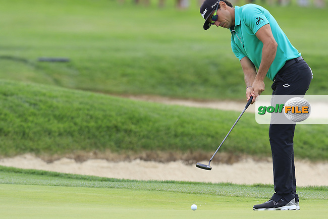 Rafa Cabrera-Bello (ESP) putts on the 4th green during Thursday's Round 1 of the 2016 U.S. Open Championship held at Oakmont Country Club, Oakmont, Pittsburgh, Pennsylvania, United States of America. 16th June 2016.<br /> Picture: Eoin Clarke | Golffile<br /> <br /> <br /> All photos usage must carry mandatory copyright credit (&copy; Golffile | Eoin Clarke)
