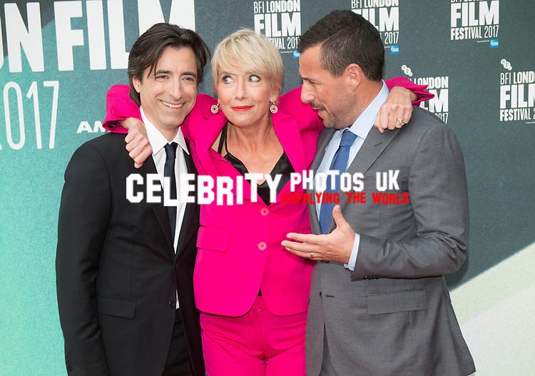 Noah Baumbach, Emma Thompson & Adam Sandler at the 'The Meyerowitz Stories' premiere, BFI London Film Festival, UK  6th Oct 2017