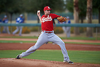 Cincinnati Reds pitcher Ben Klimesh (17) during an instructional league game against the Los Angeles Dodgers on October 20, 2015 at Cameblack Ranch in Glendale, Arizona.  (Mike Janes/Four Seam Images)
