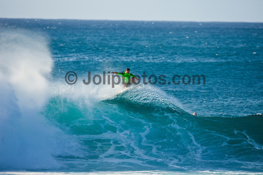 Michel Bourez (PYF).  Pipeline, Haleiwa Hawaii,(Monday November 15, 2010) .A West swell came up during the day on Sunday and continued to pump today. Waves were in the 12' plus range with some Second Reef Pipeline waves. Pipeline and Sunset were the two spots. ..Photo: joliphotos.com