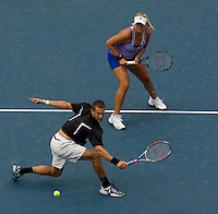 Carly Gullickson (USA) & Travis Parrott (USA)against Leander Paes (IND) (2) & Cara Black (ZIM) (2) in the final of the Mixed Doubles. Gullickson & Parrott beat Black & Paes 6-2 6-4..International Tennis - US Open - Day 11 Thu 10 Sep 2009 - USTA Billie Jean King National Tennis Center - Flushing - New York - USA ..© Frey Images, Barry House, 20-22 Worple Road, London, SW19 4DH.Tel - +44 20 8947 0100.Cell - +447843 383 012.Email - mfrey@advantagemedianet.com
