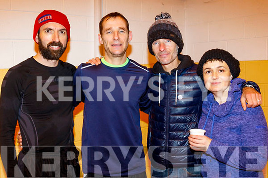 L-R James O'Shea, Tommy&Billy O'Brien with Caroline Boyle after the Maine Valley Athletic Club organised 5km run on St Stephans day in Farronfore.