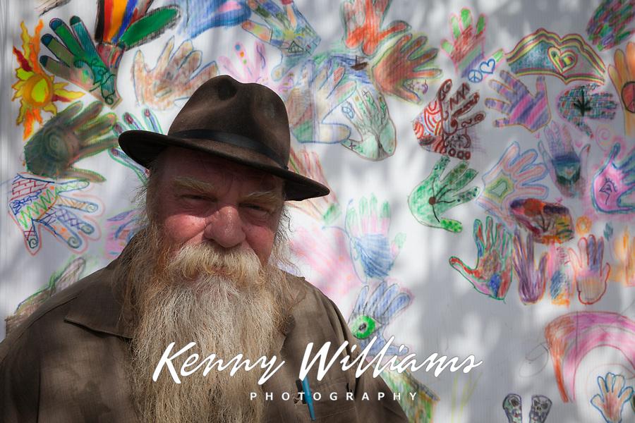 Paul Wislotski and his collective group art piece, Hempfest Seattle 2016, WA, USA.