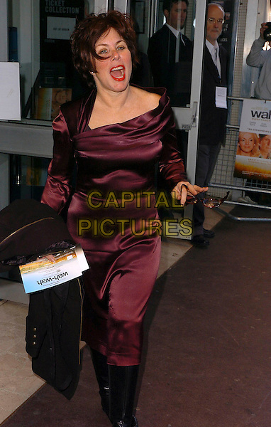 "RUBY WAX.Arrivals at the UK Film Premiere of ""Wah Wah"", .Odeon Leicester Square, London, England, .May 30th 2006..full length maroon red burgundy dress glasses funny.Ref: CAN.www.capitalpictures.com.sales@capitalpictures.com.©Can Nguyen/Capital Pictures"