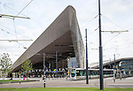 Modern architecture central railway station building, Centraal Station, Rotterdam, Netherlands