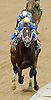 Orange's Lil Sis winning then being disqualified at Delaware Park on 6/17/12