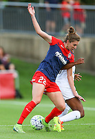 Boyds, MD - Saturday July 02, 2016: Alyssa Kleiner, Tiffany McCarty during a regular season National Women's Soccer League (NWSL) match between the Washington Spirit and FC Kansas City at Maureen Hendricks Field, Maryland SoccerPlex.