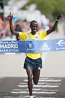 Francis Kiprop absolute winner of 2013 Madrid Marathon