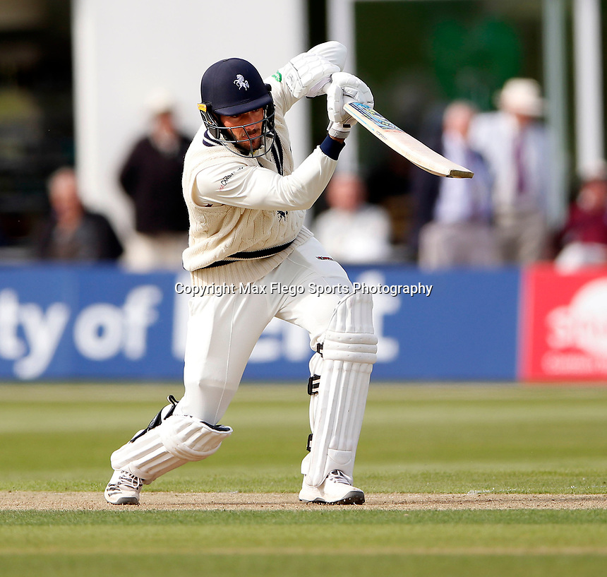 Grant Stewart bats for Kent during the Specsavers County Championship Div 2 game between Kent and Sussex at the St Lawrence Ground, Canterbury, on May 11, 2018