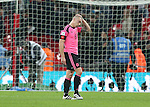 Disappointed Scott Brown of Scotland walk off during the FIFA World Cup Qualifying Group F match at Wembley Stadium, London. Picture date: November 11th, 2016. Pic David Klein/Sportimage