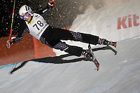 SANKT JOHANN IN TIROL, AUSTRIA 04 JANUARY 2010. Marcin Orlowski (POL) crashes out while competing in the qualification round of the FIS Freestyle Skiing World Cup Skier Cross. Skier Cross will be making it's maiden appearance at the 2010 Winter Olympics in Vancouver Canada. Mandatory credit: Mitchell Gunn - Sportsphotographers.eu
