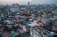 HAVANA, CUBA - SEPTEMBER 08: The dense cluster of apartment buildings in the neighborhood of Centro Habana on 8th of September, 2015 in Havana, Cuba. <br /> <br /> Daniel Berehulak for The New York Times