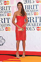 Melanie Sykes arriving at The Brit Awards 2015 (Brits) held at the O2 - Arrivals, London. 25/02/2015 Picture by: James Smith / Featureflash