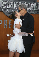 LOS ANGELES, CA - JUNE 12: Emilie Livingston and Jeff Goldblum at Jurassic World: Fallen Kingdom Premiere at Walt Disney Concert Hall, Los Angeles Music Center in Los Angeles, California on June 12, 2018. <br /> CAP/MPIFS<br /> &copy;MPIFS/Capital Pictures