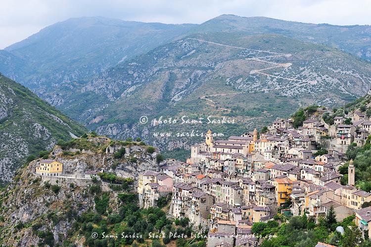 Saorge village, Roya Valley, Alpes-Maritimes, France