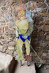 Retiarius gladiator model, Circa Romano hippodrome, Merida, Extremadura, Spain
