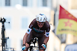 Romain Bardet (FRA) AG2R La Mondiale on the 17% climb during Stage 13 of the 2019 Tour de France an individual time trial running 27.2km from Pau to Pau, France. 19th July 2019.<br /> Picture: Colin Flockton | Cyclefile<br /> All photos usage must carry mandatory copyright credit (© Cyclefile | Colin Flockton)