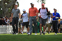 Justin Rose (ENG, Sergio Garcia (ESP) Francesco Molinari (ITA) during the 1st day at the  Andalucía Masters at Club de Golf Valderrama, Sotogrande, Spain. .Picture Fran Caffrey www.golffile.ie