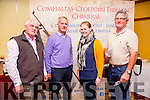At the Kerry County Convention of Ceoltas in the Meadowlands Hotel on Sunday were l-r  John McElligott, Listowel branch of Comhaltas, Ireneus Looney, Killorglin branch of Comhaltas, Roisin Looney, Killorglin branch of Comhaltas and Eugene Moriarty, Chairman of the Listowel branch of Comhaltas