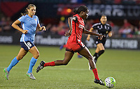 Portland, Oregon - Saturday July 2, 2016: Portland Thorns FC forward Shade Pratt (29) brings the ball forward during a regular season National Women's Soccer League (NWSL) match at Providence Park.
