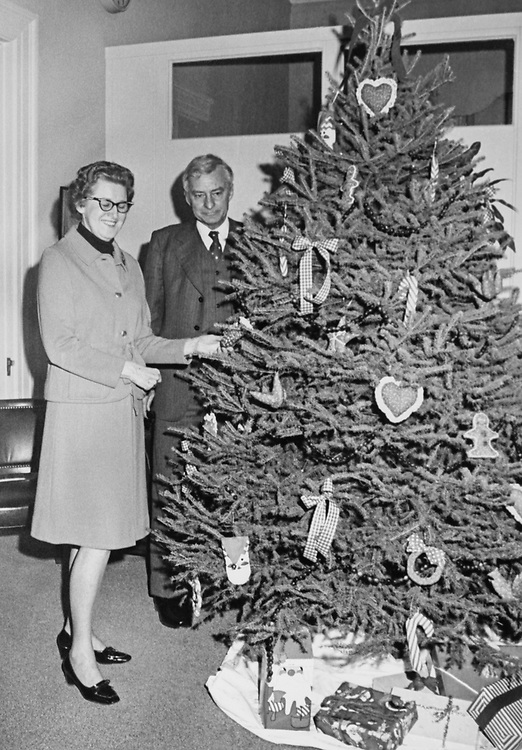 Congressman standing besides decorated Christmas tree at his office around Christmas. (Photo by Dev O'Neill/CQ Roll Call via Getty Images)