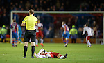 Andy Halliday flat out injured as Willie Collum stops the play