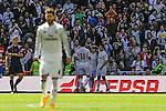 Real Madrid´s players celebrates a goal during 2014-15 La Liga match between Real Madrid and Granada at Santiago Bernabeu stadium in Madrid, Spain. April 05, 2015. (ALTERPHOTOS/Luis Fernandez)