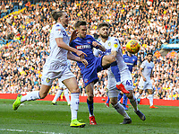 Bolton Wanderers' Craig Noone battles with Leeds United's Luke Ayling and Mateusz Klich<br /> <br /> Photographer Alex Dodd/CameraSport<br /> <br /> The EFL Sky Bet Championship - Leeds United v Bolton Wanderers - Saturday 23rd February 2019 - Elland Road - Leeds<br /> <br /> World Copyright © 2019 CameraSport. All rights reserved. 43 Linden Ave. Countesthorpe. Leicester. England. LE8 5PG - Tel: +44 (0) 116 277 4147 - admin@camerasport.com - www.camerasport.com