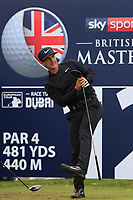 Thorbjorn Olesen (DEN) on the 12th tee during Round 1of the Sky Sports British Masters at Walton Heath Golf Club in Tadworth, Surrey, England on Thursday 11th Oct 2018.<br /> Picture:  Thos Caffrey | Golffile<br /> <br /> All photo usage must carry mandatory copyright credit (© Golffile | Thos Caffrey)
