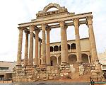 Roman Templo de Diana, Temple of Diana, Merida, Extremadura, Spain