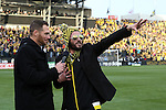 06 December 2015: Brian Dunseth (left) interviews Columbus Crew legend Frankie Hejduk (right). The Columbus Crew SC hosted the Portland Timbers FC at Mapfre Stadium in Columbus, Ohio in MLS Cup 2015, Major League Soccer's championship game. Portland won the game 2-1.