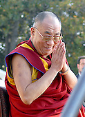 Washington, DC - October 17, 2007 -- The 14th Dalai Lama, Tenzin Gyatso, makes a speech on the West Lawn of the United States Capitol in Washington, D.C. on Wednesday, October 17, 2007.  Earlier, inside the Rotunda of The Capitol the Dalai Lama accepted the Congressional Gold Medal, the nation's highest and most distinguished civilian award..Credit: Ron Sachs/CNP