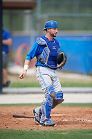 Toronto Blue Jays catcher Alberto Mineo (70) during a Minor League Spring Training Intrasquad game on March 31, 2018 at Englebert Complex in Dunedin, Florida.  (Mike Janes/Four Seam Images)
