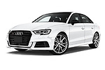 Stock pictures of low aggressive front three quarter view of 2017 Audi S3 Premium-Plus 4 Door Sedan Low Aggressive