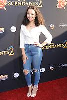 www.acepixs.com<br /> <br /> July 11 2017, LA<br /> <br /> Kayla Maisonet arriving at the premiere of Disney Channel's 'Descendants 2' on July 11, 2017 in Los Angeles, California. <br /> <br /> By Line: Peter West/ACE Pictures<br /> <br /> <br /> ACE Pictures Inc<br /> Tel: 6467670430<br /> Email: info@acepixs.com<br /> www.acepixs.com
