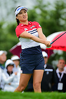 So Yeon Ryu (KOR) watches her tee shot on 1 during Friday's second round of the 72nd U.S. Women's Open Championship, at Trump National Golf Club, Bedminster, New Jersey. 7/14/2017.<br /> Picture: Golffile | Ken Murray<br /> <br /> <br /> All photo usage must carry mandatory copyright credit (&copy; Golffile | Ken Murray)