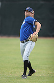 July 14th, 2007:  Zach Jevne of the Aberdeen Ironbirds, Class-A Short-Season affiliate of the Baltimore Orioles, throws in the outfield before a game vs the Jamestown Jammers in New York-Penn League action.  Photo Copyright Mike Janes Photography 2007.