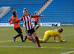 Jade Pennock of Sheffield Utd celebrates her goal during the The FA Women's Championship match at the Proact Stadium, Chesterfield. Picture date: 8th December 2019. Picture credit should read: Simon Bellis/Sportimage
